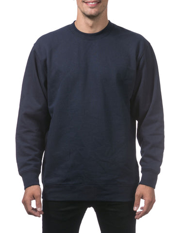 PRO CLUB Heavyweight Crew Neck Fleece Pullover Sweater (13oz) – NAVY