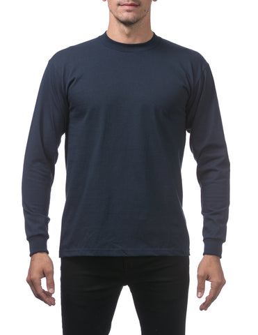 Pro Club Heavy Weight  Long Sleeve T Shirts Navy