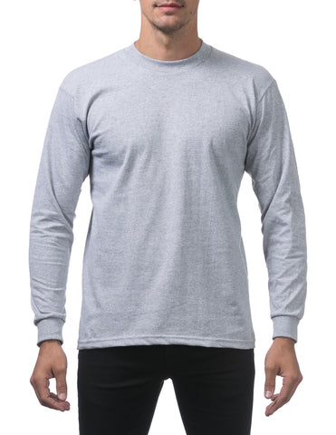 Pro Club Heavy Weight Tall Long Sleeve T-Shirt Light Grey
