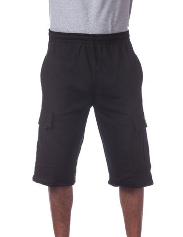 Pro Club Fleece Cargo Shorts BLACK