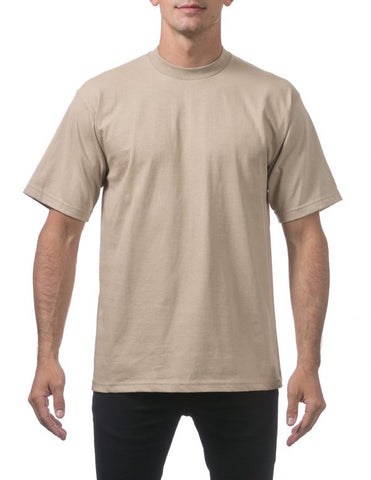 Pro Club Heavy Weight  Short Sleeve Tee Shirts Khaki