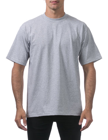 Pro Club Heavy Weight Tall Short Sleeve Tee Shirts Light Grey