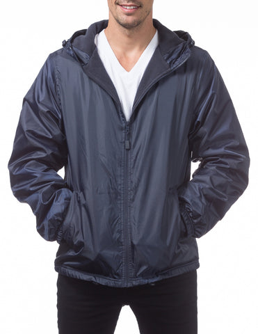 Pro Club Fleece Lined Windbreaker Jacket – NAVY