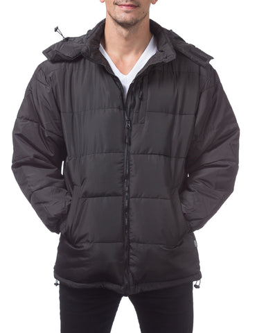 Pro Club Bubble Down Jacket – Water Resistant Black
