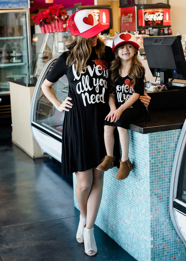 MOMMY AND ME LOVE IS ALL YOU NEED DRESS