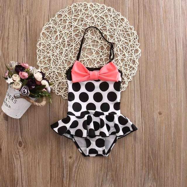 Polka Dot Swimsuit, Girls Clothing Set,- Ryan N Riley