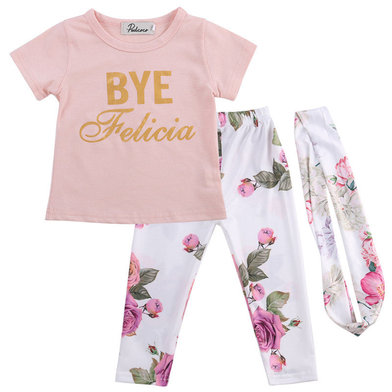 BYE FELICIA OUTFIT, Girls Clothing Set,- Ryan N Riley