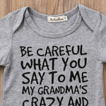 BE CAREFUL WHAT YOU SAY TO ME ONESIE, ,- Ryan N Riley