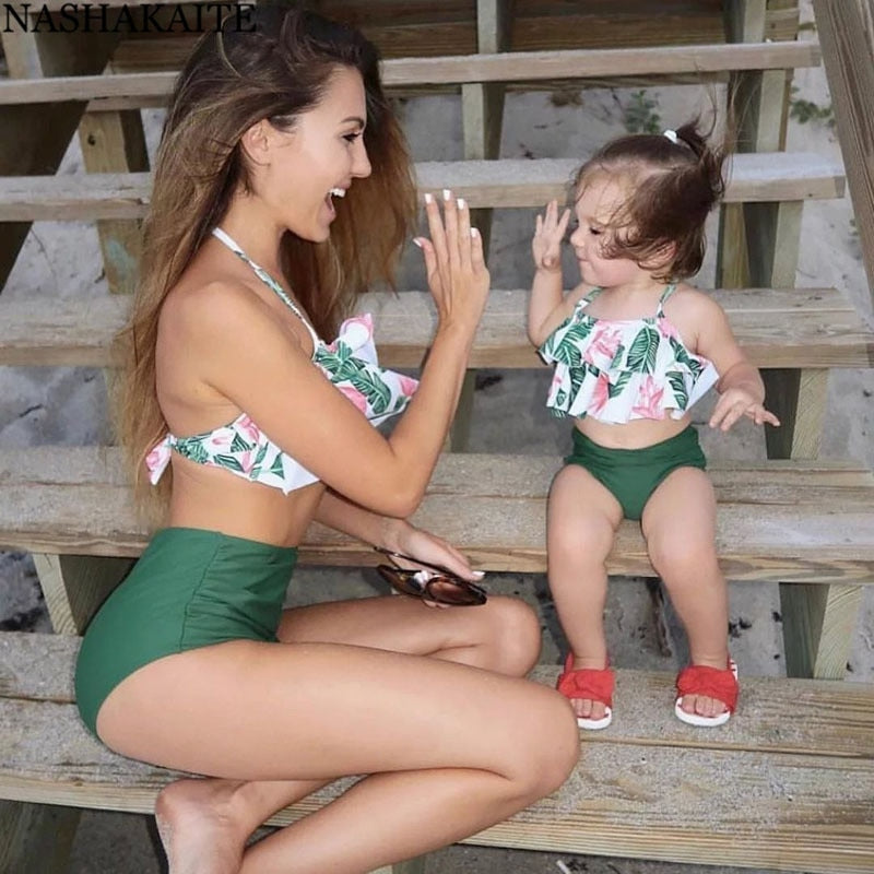 Mommy and Me Leaf Swimsuit