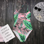 Mommy and Me Tropical Leaf Swimsuit