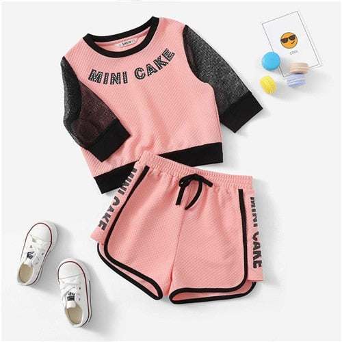ABIGAYLE TWO PIECE TOP AND SHORTS FOR BABY GIRSL.