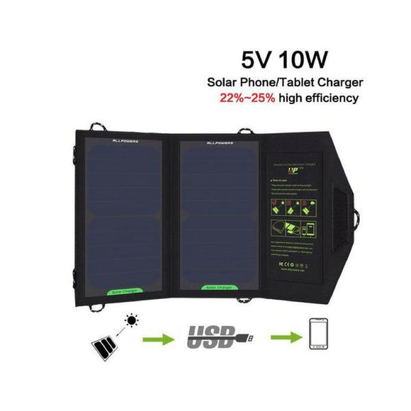 5V 10W Outdoor Foldable Solar Panel Chargers