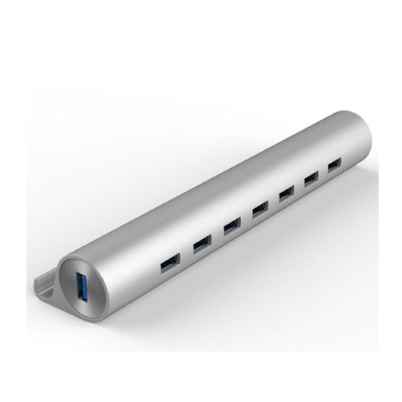 Cylindrical USB 3.0 7-Port Hub