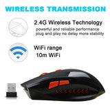 1600 DPI Wolf Wireless Bluetooth Gaming Mouse