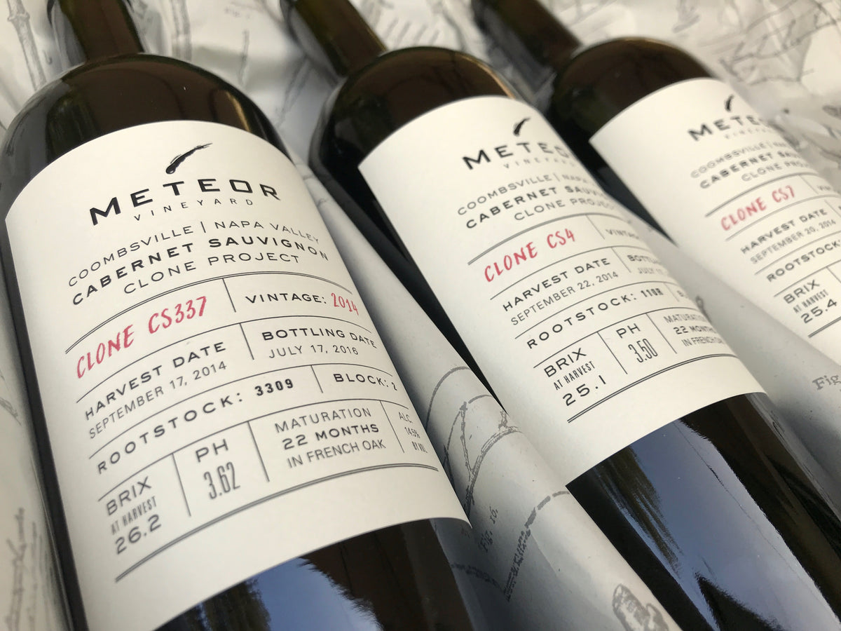 2014 Meteor Vineyard Clone Project Cabernet Sauvignon Coombsville Napa