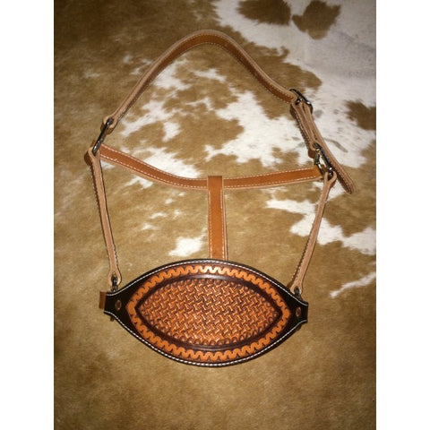 Tooled Nose Bronc Style Halter