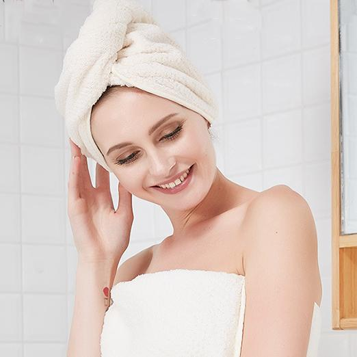 Women Super Water Absorbent Hair Drying Long Thicken Towel Turban Bathing Cap Head Wrap Hat Smoothing Circulation And Stopping Pains Shower Caps