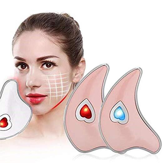 Face Scraping Massager Tool Micro Current Vibration Facial Neck Scraping Massage Board Lifting for Remove Eye Line, Dark Circles, Anti-wrinkle - Innolv