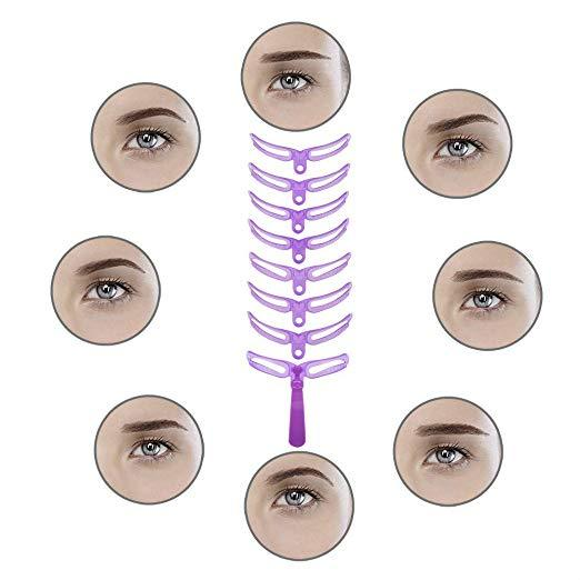 Eyebrow Stencils,8 Styles Eyebrow Shapes DIY Eyebrows Grooming Stencil Kit Shaping Templates,Eyebrow Stencils Reusable Eyebrow Drawing Guide Card Brow Shaping Template DIY Easy Makeup Tools - Innolv