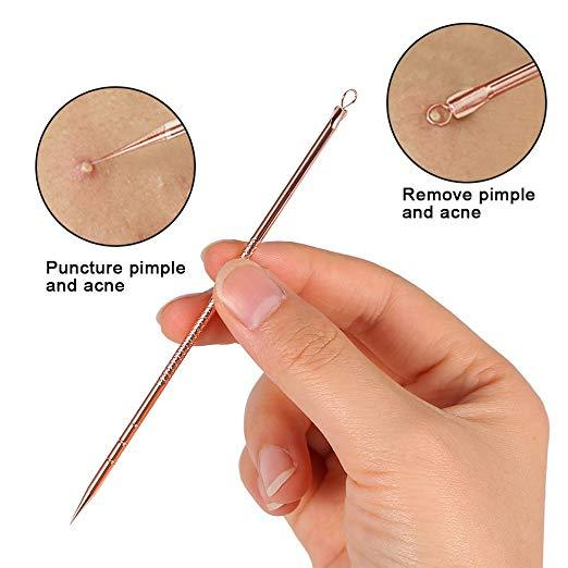 4PCS/Set Stainless Steel Blackhead Acne Blemish Pimple Removal Needle Kit Tool for Women and Men Facial Care Skin Protect