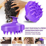 Hair Scalp Brush, Updated Hair Shampoo Brush Scalp Massage Brush with Soft Silicon Rubber Brush Head - Innolv