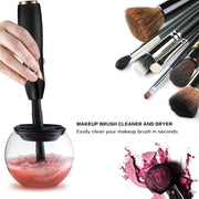 Makeup Brush Cleaner INNOLV Electric Spinning Makeup Brush Cleaner and Dryer Machine Brush Cleaner Spinner 360 Rotation Cleans and Dries all Makeup Brushes In Seconds - Black - Innolv