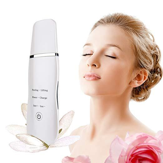 Portable face beauty massager facial deep cleansing microcurrent ultrasonic skin scrubber