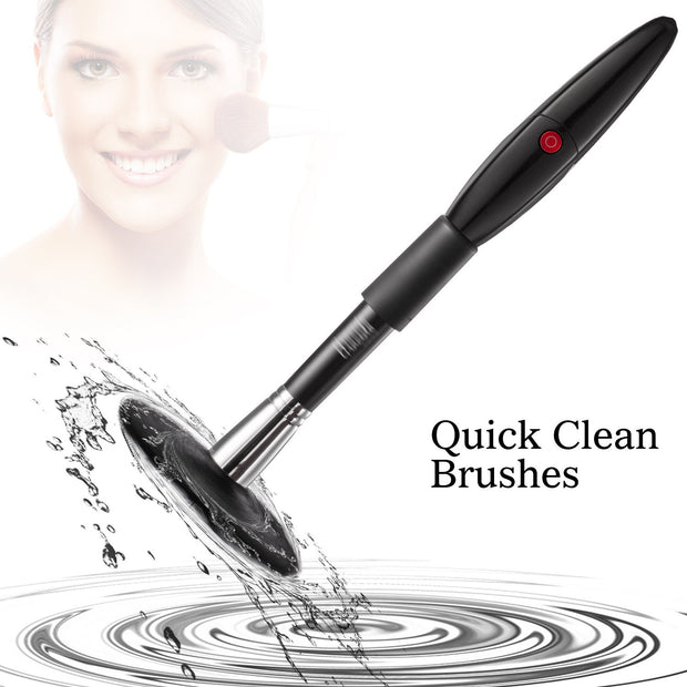 Spinning make up Brush Cleaner with 360 Rotation Spinner Automatic Wash and Dry-Black by INNOLV