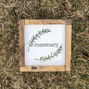 "Rosemary Mini Shelf Sitter Sign | 7""x7"""