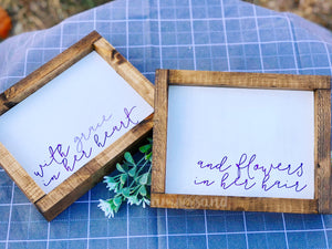 "With Grace in Her Heart ... Small Shelf Sitter Sign | SET OF 2 | 7""x9"""