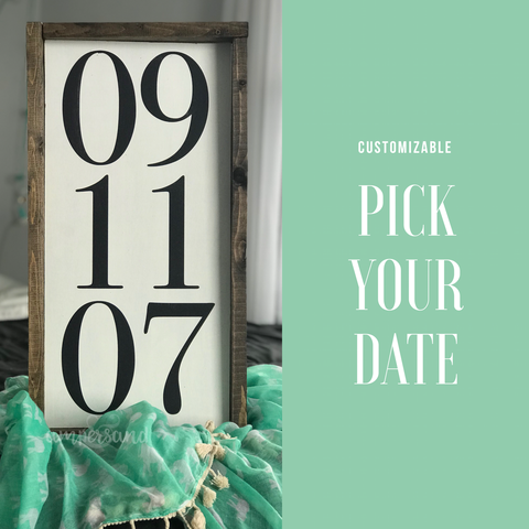 "CUSTOMIZABLE | Memorable Date Hanging Sign | 12""x24"""