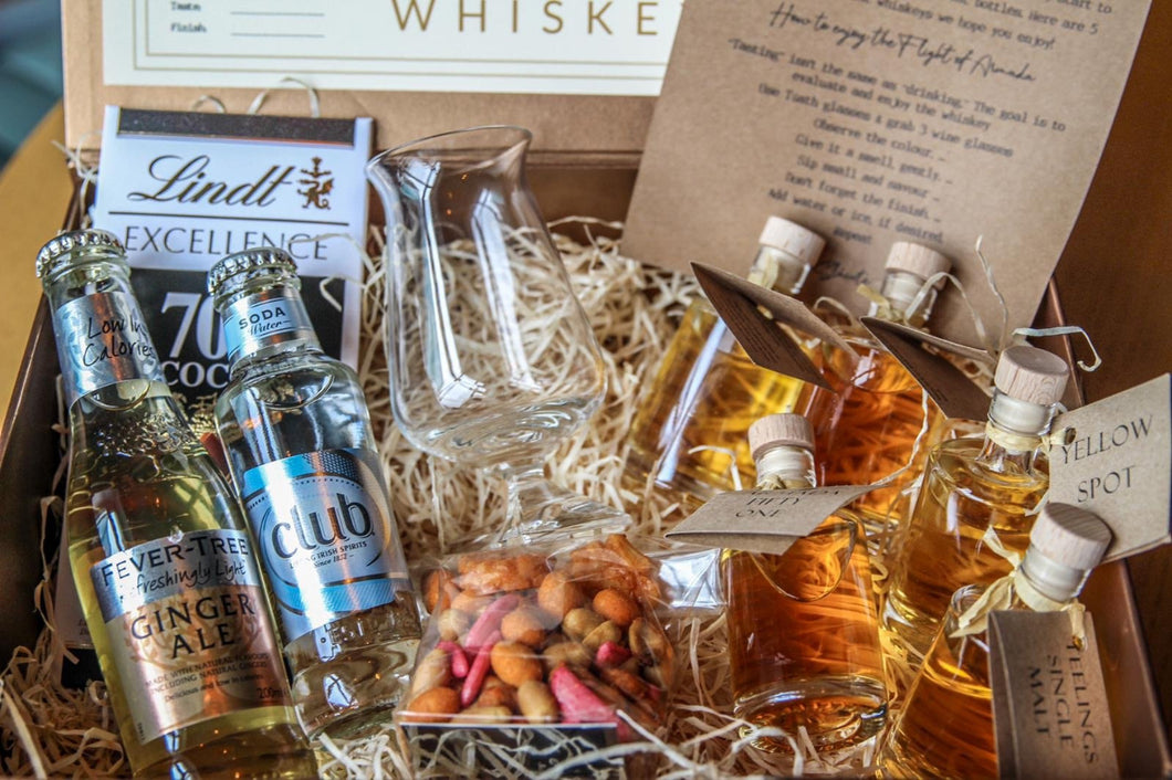 A selection of best selling premium whiskey presented in a beautiful Gift Box from Armada Hotel, Co Clare