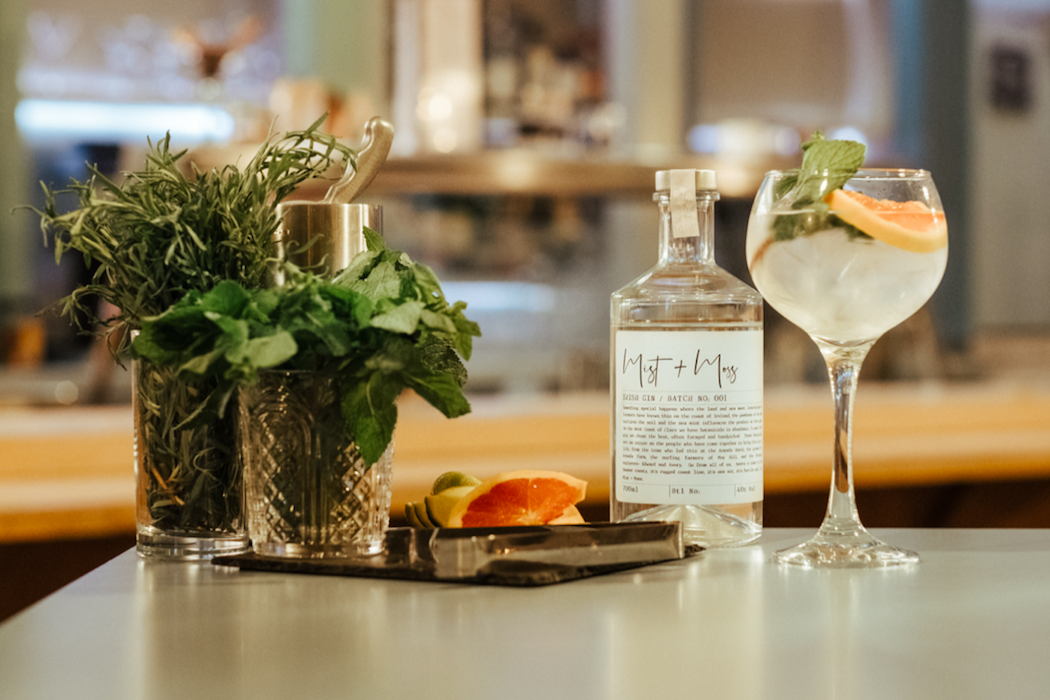 Armada  Hotel, Co Clare and Lough Ree distillery bring you the unique Mist and Moss Gin, using botannicals from the Burren, Armada Farm and Moy Hill Farm