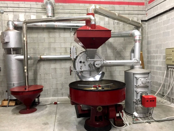30 Kilo - Used Cast Iron Officine Vittoria Roaster with Afterburner and Silos