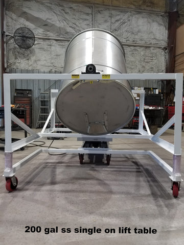 200 gal ss single on lift table