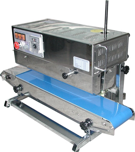 Vertical Heavy Bag Band Sealer Left to Right