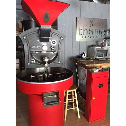 15 kilo: Used (Available February) Giesen Coffee Roaster & Selkirk Oxidizer