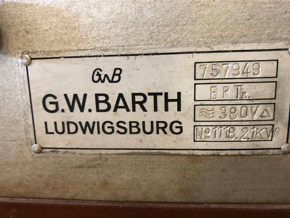 Barth Sample Roaster Nameplate