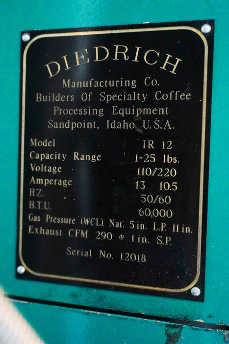 12 kilo Diedrich IR-12 - 1994 Model - Great Condition - Used