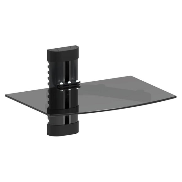 ARGOM TEMPERED 1 GLASS SHELF TV WALLMOUNT