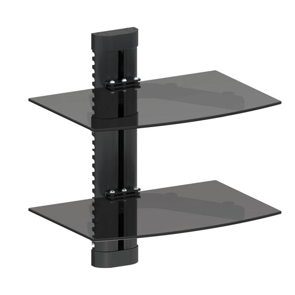 ARGOM TEMPERED 2 GLASS SHELVES TV WALLMOUNT