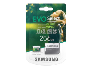 Samsung EVO Select 256GB SD Card with Adapter Class 10