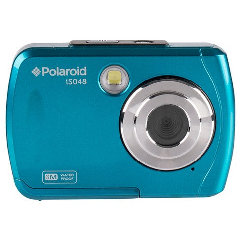 Polaroid IS 048 Waterproof Instant Sharing 16 MP Digital Portable Handheld Action Camera, Teal