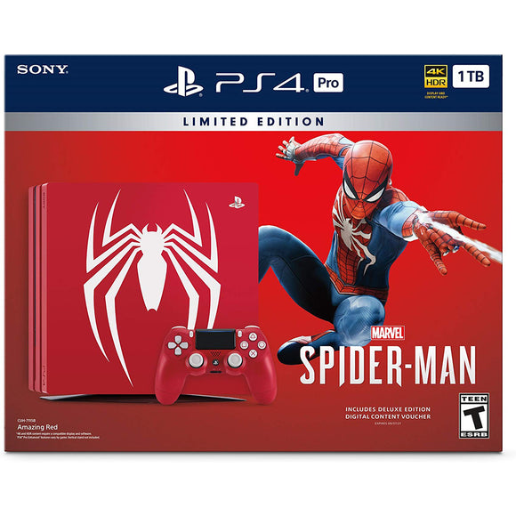 PlayStation 4 Pro 1TB Console Limited Edition - Marvel's Spider-Man Bundle