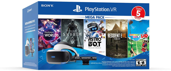 Playstation VR Bundle Five Game Pack PS4