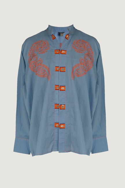 Kauri - Embroidered Cotton Men's Shirt