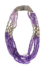 Quinza Amethyst and Silver necklace