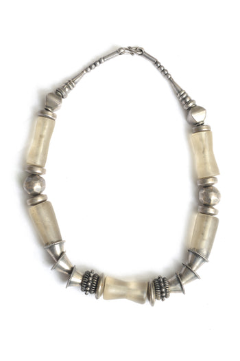 Kelly Silver and Five Ancient Quartz Necklace
