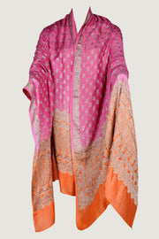 Alberty Shawl - Color Gradation Hand Cut Silk