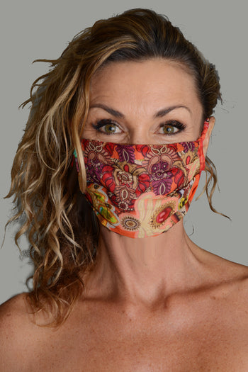 Rozet - Georgette Digital Printed Face Mask